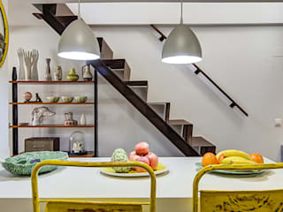 Decorando tu espacio - interiorismo y reforma integral en Madrid. KitchenBench tops Ceramic Yellow