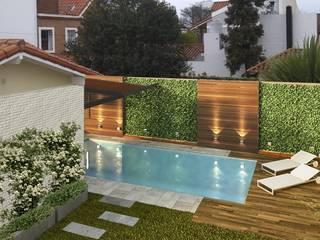Jardines de piedras de estilo  por laura zilinski arquitecta,