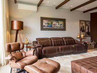 Espaço do Traço arquitetura Country style living room Beige