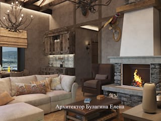 Salones de estilo industrial de Архитектурное Бюро 'Капитель' Industrial