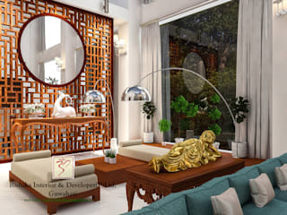 Living room Designs:  Living room by Rishika Interior & Developer (p) Ltd.