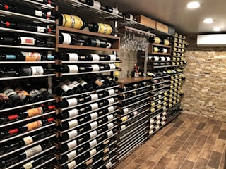 Residential Wine Cellar in NY Millesime Wine Racks Modern Home Wine Cellar