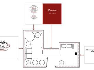 Sala de Relajación: Salas de estilo  por Aufsten