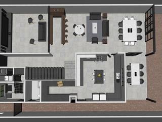 Casa MLL-1 Comedores minimalistas de Ipsum Nova Minimalista