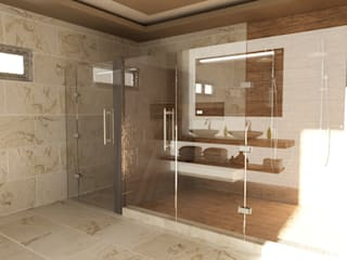 Modern bathroom by OLLIN ARQUITECTURA Modern