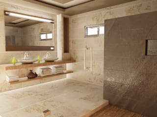 OLLIN ARQUITECTURA Modern style bathrooms