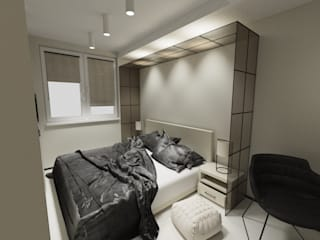 Modern style bedroom by d.b.mroz@onet.pl Modern