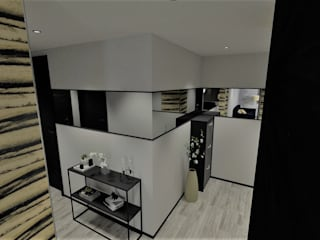 Modern Corridor, Hallway and Staircase by d.b.mroz@onet.pl Modern