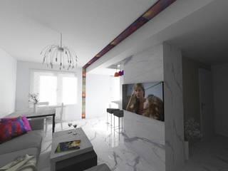 d.b.mroz@onet.pl 现代客厅設計點子、靈感 & 圖片