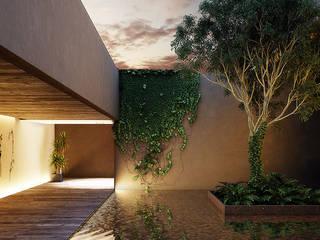 Patio M Jardines modernos de Maquita Arquitectos Moderno