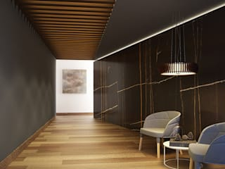 Interiorismo: Pasillos y recibidores de estilo  por Maquita Arquitectos