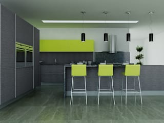 Calegra México Dapur built in Kuarsa Multicolored