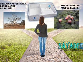 Lavadero doméstico de tipo ecológico , construcción sustentable de Lavaderos Ecológicos Náyade Moderno