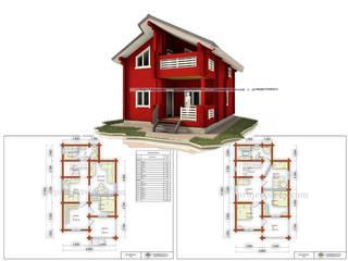 Дом из бруса: Деревянные дома в . Автор – Projectstroy