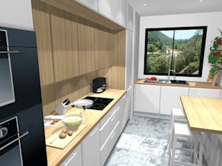 Modern kitchen by Dessine-moi une Cuisine Modern