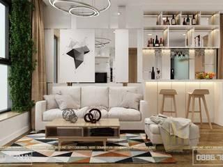 Thiết kế nội thất chung cư EcogreenCity nhà - chị Dung bởi Thiết kế - Nội thất - Dominer