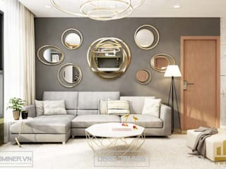 Thiết kế nội thất chung cư EcogreenCity - nhà chú Cường bởi Thiết kế - Nội thất - Dominer