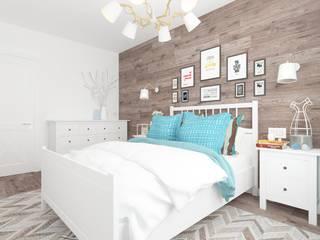 Дизайн интерьера спальни в скандинавском стиле от SOS-REMONT Скандинавский