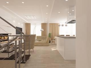 Дизайн кухни-гостиной Гостиная в стиле минимализм от SOS-REMONT Минимализм