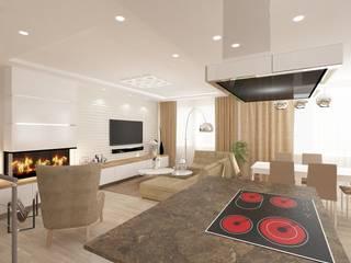 Дизайн кухни-гостиной Кухня в стиле минимализм от SOS-REMONT Минимализм