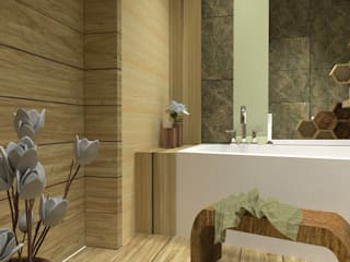 Tropical style bathroom by d.b.mroz@onet.pl Tropical