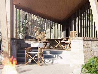 Balcon, Veranda & Terrasse ruraux par Компания архитекторов Латышевых 'Мечты сбываются' Rural