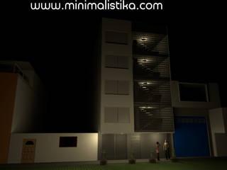 Minimalistika.com Casas de estilo minimalista Metal Gris