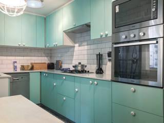 Cocinas pequeñas de estilo  por Estudio Arquitectura y construccion PR/ Arquitectura, Construccion y Diseño de interiores / Santiago, Rancagua y Viña del mar, Clásico