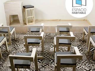Aula de Capacitación | Diseño y producción de mobiliario Centros de convenciones de estilo moderno de Espacio Habitable Mx Moderno