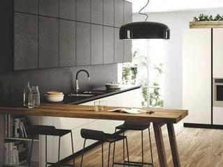 Cocina con Desayunador de Cocinas y muebles especiales Moderno