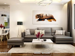 Thiết kế nội thất chung cư GoldMark nhà anh Đức Anh – bởi Thiết kế - Nội thất - Dominer