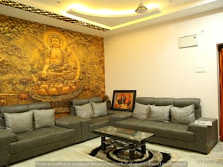 Gautami Enclave Classic style living room by Meticular Interiors LLP Classic