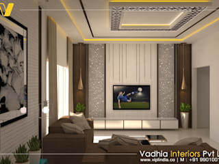 3BHK Residential Interior in Bangalore: modern  by Vadhia Interiors Pvt Ltd,Modern