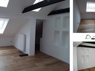 Dachausbau inklusive Dachflächenfenster | Innenausbau COMWOOD | Individuelle Lösungen aus Holz Klassische Schlafzimmer