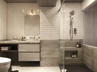 Baños de estilo  por 百玥空間設計, Moderno