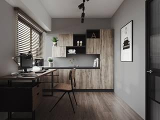 Oficinas de estilo  por 百玥空間設計, Minimalista