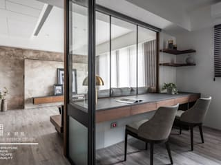 Oficinas de estilo  por 百玥空間設計, Moderno