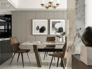 Modern dining room by 百玥空間設計 Modern