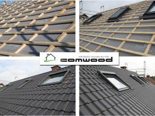 Dachflächenfenster | Montage am Neubauobjekt COMWOOD | Individuelle Lösungen aus Holz Satteldach Grau
