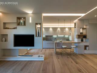 CASA A SAN FELICE CIRCEO Soggiorno moderno di STUDIO ACRIVOULIS Architettra + Interior Design Moderno
