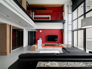 Livings de estilo moderno de 邑舍室內裝修設計工程有限公司 Moderno