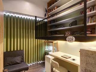趣味空間:  書房/辦公室 by 邑舍室內裝修設計工程有限公司