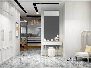 P.Korkmaz Villası Modern Koridor, Hol & Merdivenler avangard mimarlık Modern