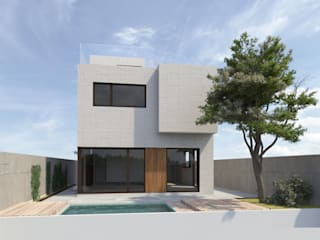 Casa unifamiliar en Madrid de Grupo RIOFRIO arquitectos Moderno