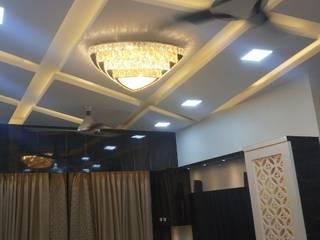 living room design bhoomi acres  interior project by kumar interior Thane:   by KUMAR INTERIOR THANE