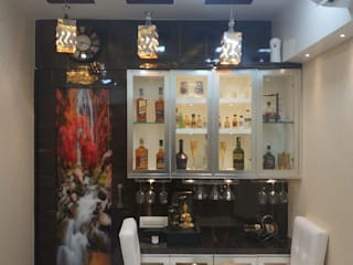 Bar Unit Design bhoomi acres  interior project by kumar interior Thane:   by KUMAR INTERIOR THANE
