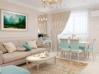 Дизайн-проект квартиры студии по пр. Победителей Гостиная в классическом стиле от BOHO DESIGN Классический