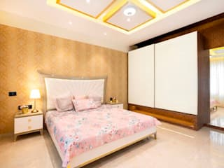 Bunglow Interiors at Dorabjee Paradise:  Bedroom by Finch Architects