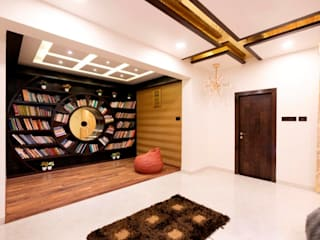 Bunglow Interiors at Dorabjee Paradise:  Study/office by Finch Architects
