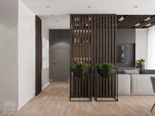 Miszkanie w Krakowie połączone z dwóch małych Nowoczesny salon od LINEUP STUDIO Nowoczesny